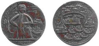 Medalla de la conquista de Portobelo. Cortesía del Museo Naval de Madrid.