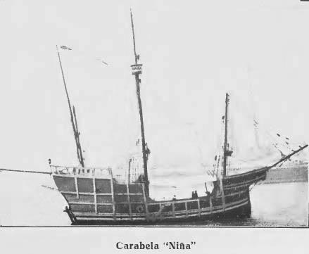 Carabela Niña construida en 1892.