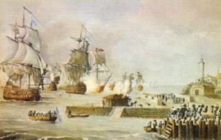 Ataque de Vernon a Cartagena de Indias. Cortesía del Museo Naval de Madrid.
