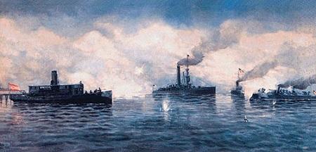 Combate de Cárdenas. Cortesía del Museo Naval. Madrid.