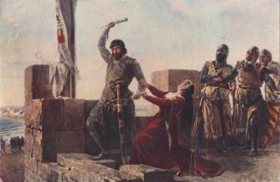 Acto de don Alonso Pérez de Guzmán, pintado por el valenciano Salvador Martínez Cubells. Cortesía del Museo del Prado. Madrid.