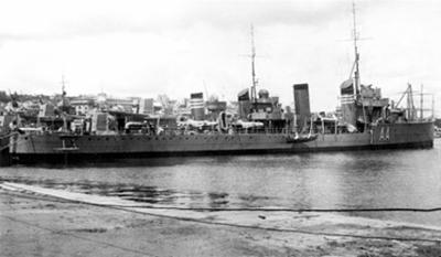 Foto del destructor Almirante Antequera. Colección Todoavante. Casaú. Cartagena.