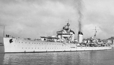 Foto del crucero Almirante Cervera. Colección Todoavante. Casaú. Cartagena.