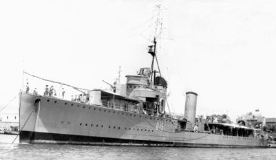 Foto del destructor Almirante Miranda. Colección Todoavante. Casaú. Cartagena.