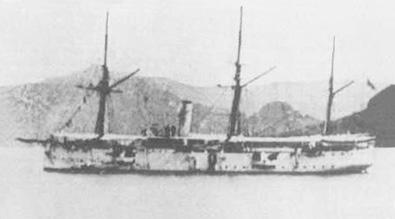 Crucero Don Antonio de Ulloa. Colección de don Alfredo Aguilera.