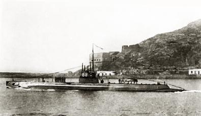 Foto del sumergible B-2. Colección Todoavante. Casaú. Cartagena.