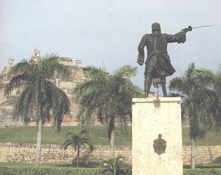 Monumento en Cartagena de Indias.