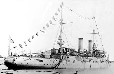 Foto del crucero protegido Cardenal Cisneros. Colección de don Alfredo Aguilera.