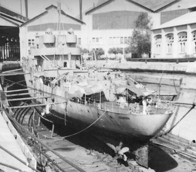 Foto de la corbeta Descubierta. Colección Todoavante. Casaú. Cartagena.