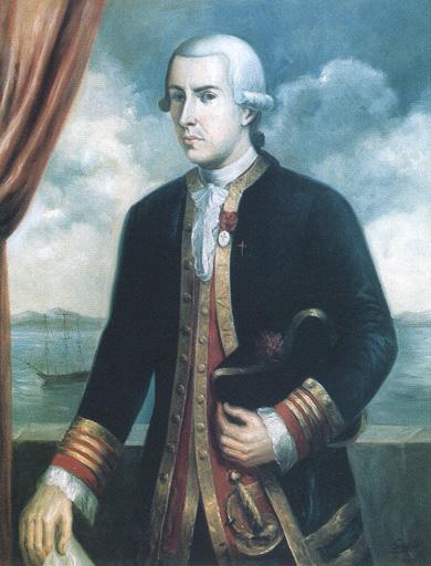 Don Juan Francisco de la Bodega y Quadra y de Mollinedo. Cortesía del Museo Naval. Madrid.