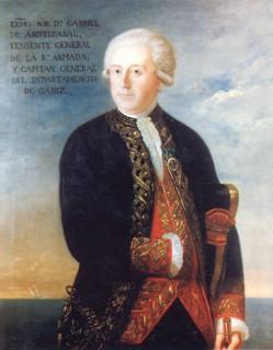 Retrato de don Gabriel de Aristizábal y de Espinosa. Cortesía del Museo Naval. Madrid.