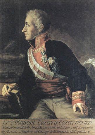Gabriel Ciscar y Ciscar. Cortesía del Museo Naval. Madrid.