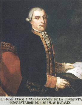 Don José Vasco y de Vargas. Cortesía del Museo Naval. Madrid.