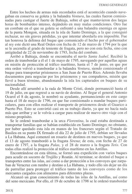 Biografía de don Luis de Coig y Sansón, publicada en la Revista General de Marina en su cuaderno de junio de 2013. Pág. 4