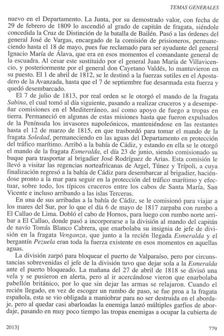 Biografía de don Luis de Coig y Sansón, publicada en la Revista General de Marina en su cuaderno de junio de 2013. Pág. 6