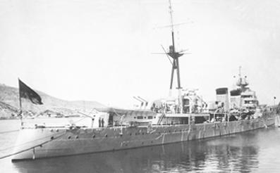 Foto del crucero Miguel de Cervantes. Colección Todoavante. Casaú. Cartagena.