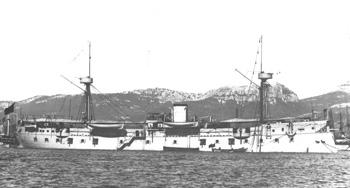 Fragata acorazada Numancia reformada como guardacostas.