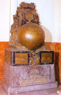 Mausoleo de don Juan Bautista Antequera y Bobadilla. Cortesía del Museo Naval. Madrid.