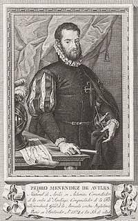 Grabado de don Pedro Menéndez de Avilés.