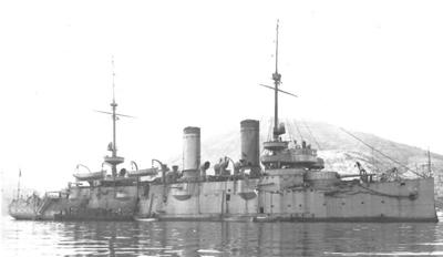 Foto del crucero protegido Princesa de Asturias. Colección de don Alfredo Aguilera.
