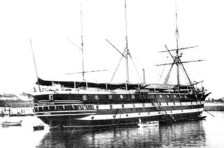 Fragata Asturias como Escuela Naval Flotante en Ferrol.