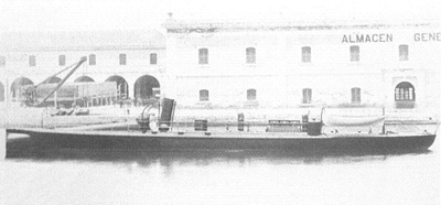 Foto del torpedero Rigel. Colección de don Alfredo Aguilera.