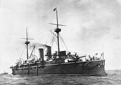 Foto del crucero protegido Vizcaya. Colección de don José Lledó Calabuig.