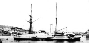 Foto del vapor Vulcano. Colección de don José Lledó Calabuig.